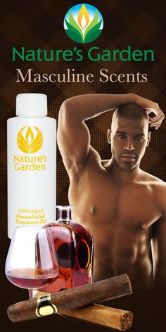 Masculine, manly, sexy man scents brought to you by the world famous Natures Garden Fragrances.  These fragrance oils are typically used to make candles, soap, room scent, and bath and body products. #MasculineScents