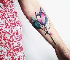 Abstract Flowers Tattoo by Bumpkin Tattoo   Tattoo No. 13238