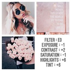 Personalise it with photos & text or purchase as is! Vsco Filter, Vsco Cam Filters, Insta Filters, Pink Instagram, Photo Instagram, Instagram Feed, Summer Photography Instagram, Photography Filters, Photography Editing