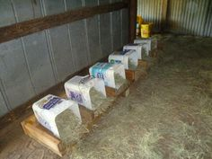nesting boxes - these would be easy to clean