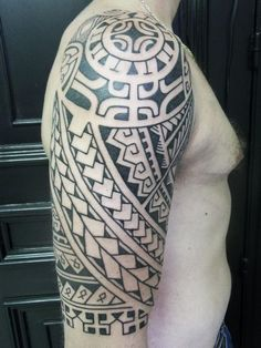 Looking for unique  Tattoos? Polynesian Inspired Half-Sleeve