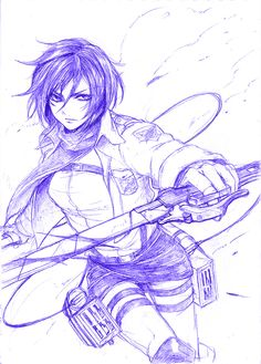 Awesome Mikasa sketch