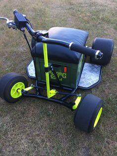 Go Kart Designs, Homemade Go Kart, Go Kart Plans, Diy Go Kart, Minibike, Drift Trike, Scooter Bike, Karting, Cool Inventions