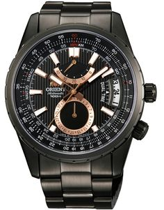 Men's Wrist Watches - ORIENT Mens Black dial Automatic watch Dual Time model Made in Japan -- Read more at the image link. Gents Watches, Watches For Men, Wrist Watches, Orient Watch, Watch Companies, Automatic Watch, Stainless Steel Bracelet, Seiko, Casio Watch
