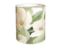 LARGE Linen White Blossom Lamp Shade - Moss and Cream Botanical Lampshade - 13…