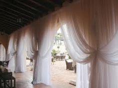 sheer drapes for wedding