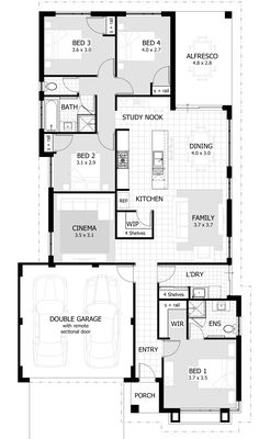 Cottesloe Beach Single Storey Home Design Foundation Floor Plan