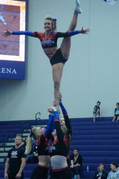 Omg I wanna be able to do this! competitive cheerleading cheerleader cheer