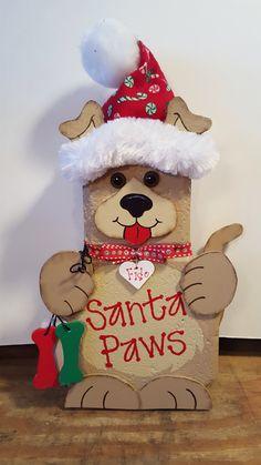 Santa paws dog by Debra Jasper