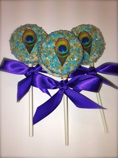 Edible Wedding Favors Chocolate Dipped Oreo Pops by FrosttheCake