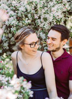 Cherry Blossom Engagement I Herzmalerei
