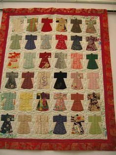 kimono style pattern quilt