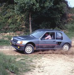Peugeot 205 T16 road car in perfect grey colour.