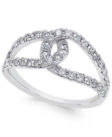 Diamond Loop Ring (3/4 ct. t.w.) in 14k White Gold
