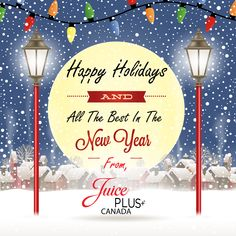 Juice Plus+ Canada is wishing everyone a safe and fun holiday season! Juice Plus, Holiday Fun, Happy Holidays, Canada, Seasons, Frame, Decor, Picture Frame, Happy Holi