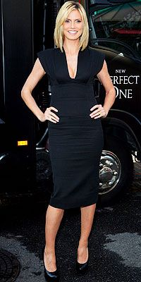 Heidi Klum wearing Victoria Beckham Dress