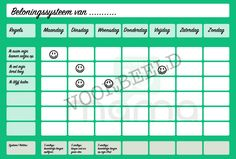 Voorbeeld beloningssysteem groen Kids Education, Kids And Parenting, Periodic Table, Printables, How To Plan, Stage, Diy, Scrapbook, Early Education