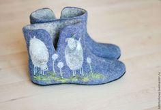 """Обувь ручной работы. Ярмарка Мастеров - ручная работа Чуни """" Шерстинки - пушинки"""". Handmade."""