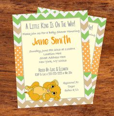 Lion King Baby Shower Invitations And Thank You Card Set   DIY Printable
