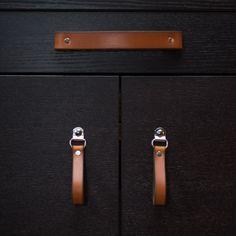 Leather Drawer Pull - The Burnside (Large) - Drawer Pulls - Walnut Studiolo - 4