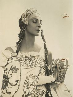 Olga Spessiva in Prince Igor costume, ca. 1934 / Studio Lipnitzki, 109 Fg St Honore. Paris by State Library of New South Wales collection, via Flickr
