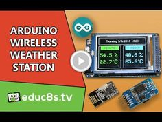 Arduino Project: Wireless Weather Station using Arduino Due, DHT22 sensor and…