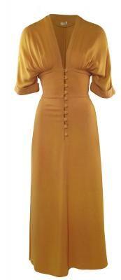 OSSIE CLARK 1960'S CREPE DRESS