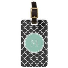 >>>Hello          Black Quatrefoil Pattern, Mint Green Monogram Luggage Tags           Black Quatrefoil Pattern, Mint Green Monogram Luggage Tags we are given they also recommend where is the best to buyDiscount Deals          Black Quatrefoil Pattern, Mint Green Monogram Luggage Tags Revie...Cleck Hot Deals >>> http://www.zazzle.com/black_quatrefoil_pattern_mint_green_monogram_luggage_tag-256510938336053730?rf=238627982471231924&zbar=1&tc=terrest