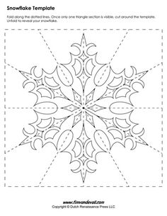 snowflake template more