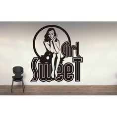 vinilo adhesivo Dulce chica Pin Up, Home Decor, Vinyls, Sweet, Decoration Home, Room Decor, Home Interior Design, Home Decoration, Interior Design