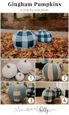 9e41b81811db DIY Gingham Pumpkins Tutorial  How To Paint Gingham Pumpkins