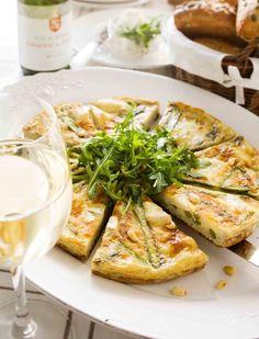 Parsa-vuohenjuustofrittata | Reseptit | Anna.fi Frittata, Camembert Cheese, Dairy, Anna, Recipes, Food, Recipies, Essen, Meals