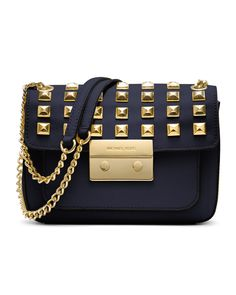 MICHAEL Michael Kors Small Sloan Studded Shoulder Bag - Neiman Marcus