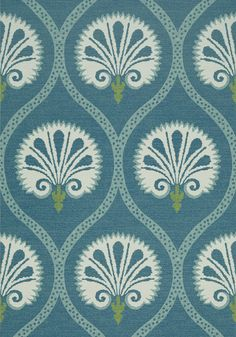 KIMBERLY, Teal, T85020, Collection Greenwood from Thibaut
