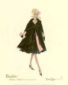 illustration of Barbie: vintage Barbie ad