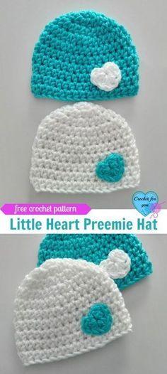 Little Heart Crochet Preemie Hat Free Pattern. Crochet Preemie HatsCrochet  Baby ... c76db24f9201