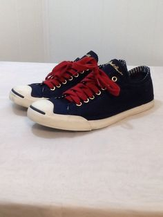 Converse Jack #Purcell Converse US 10 EUR 41.5 Navy Red Strips Nautical HTF #Converse #Trainers