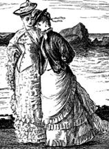 Victorian Women's Fashion, 1870-1900: bodices and skirts were tailored to fit a woman's body.