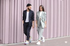 J'aime tout chez toi - French couple from Paris - Alice & js Girls Fashion Clothes, Fashion Couple, Fashion Outfits, Couple Style, Couple Goals, My Style, Street Look, Street Wear, Street Style