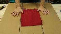 Aprenda grátis a fazer a máquina de dobrar camisetas mais simples do mundo! Com…