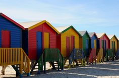 James Beach - Cape Town, South Africa (my favourite beach! Cape Town Tourism, James Beach, South Africa, Beach Huts, The Incredibles, Spaces, House Styles, City, Commercial