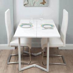 mesa de jantar pequena e moderna