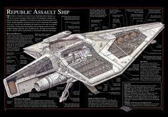 Republic Assault Ship -Acclamator Class Troopship