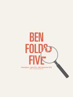 Image of Ben Folds Five Nottingham - Gig Poster by Sean Mort