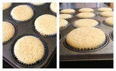 Vanilla Coconut Flour Cupcakes via @kingarthurflour