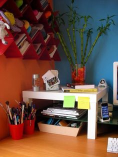 Look! Using Sidetables as Shelves | Apartment Therapy