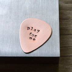 Sometimes guy gifts are a little hard to find but if you have a musician or music lover in your life I am pretty sure he'd love a custom pick.  You pick the text I make the pick.  Problem solved.  Shop link in profile.