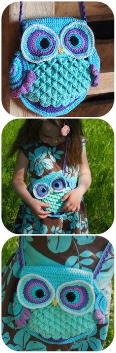 Amazing Owl Bag crochet pattern
