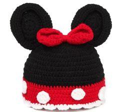 Animale mickey rosso nero con bowknot hat caps ragazzi ragazze bambino neonato…