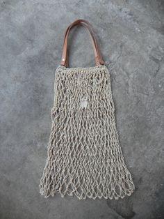 Macrame Bag With Leather Handles | A Détacher -230